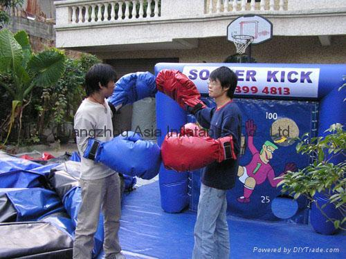 giant inflatable gloves for indoor boxing ring games / punching gloves for games