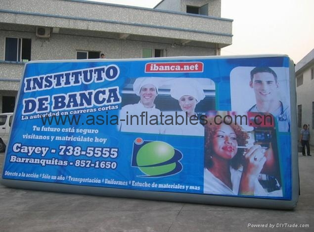 Business logo printed inflatable billboard for outdoor advertising / on water or