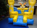Inflatable yellow rabbit design bouncer for children / jumping and bouncing