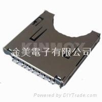sd card socket connector,memory card socket,push push