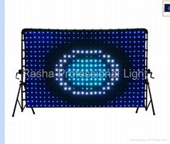 High Quality P9 2M*4M Soft Dj Curtain / LED Wedding Decoration Vision Curtain