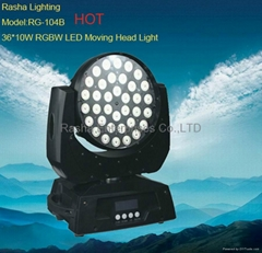 NEW 36PCS*10W 4in1 RGBW LED Moving Head Light-Stage Ligh