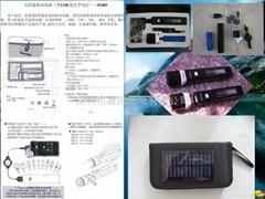 太阳能手电筒带手机充电器