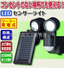 Solar LED induction lamp