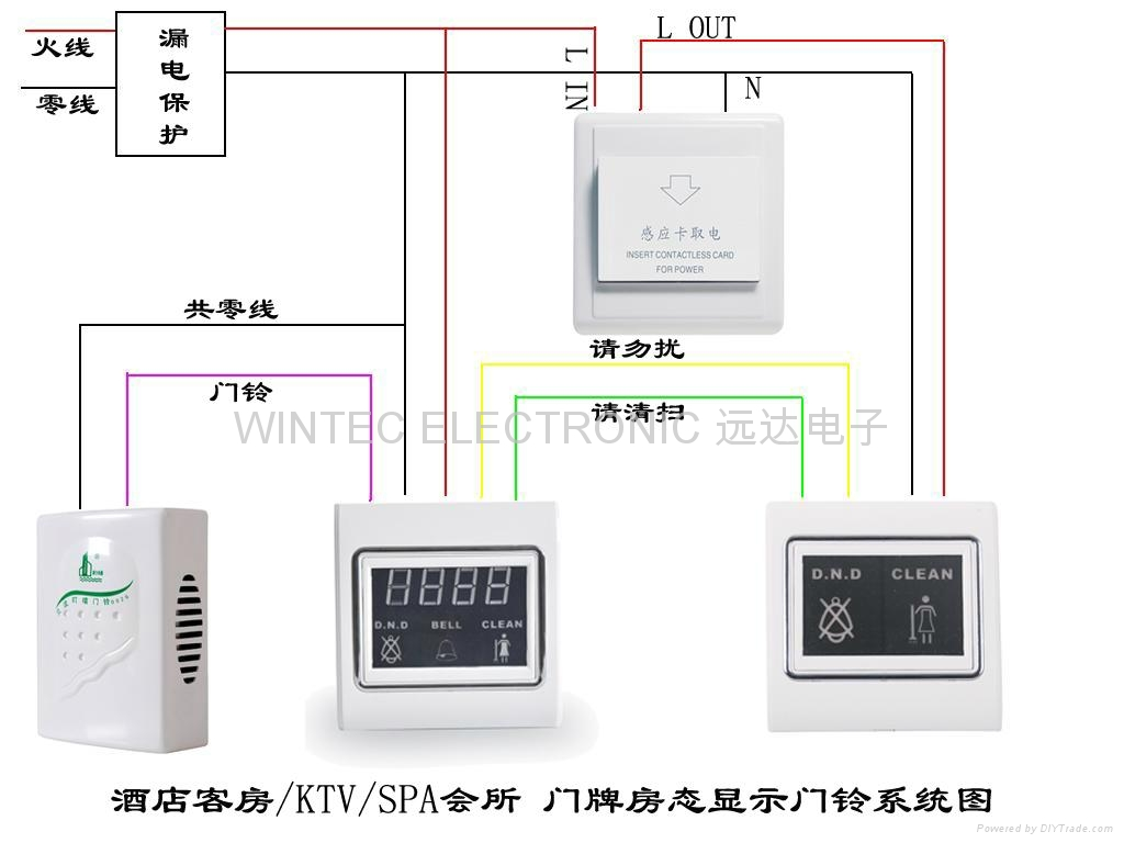 Doorbell wiring diagram 86 Product China Hotel number doorbell