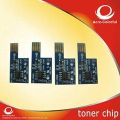 colorful toner chip Xero