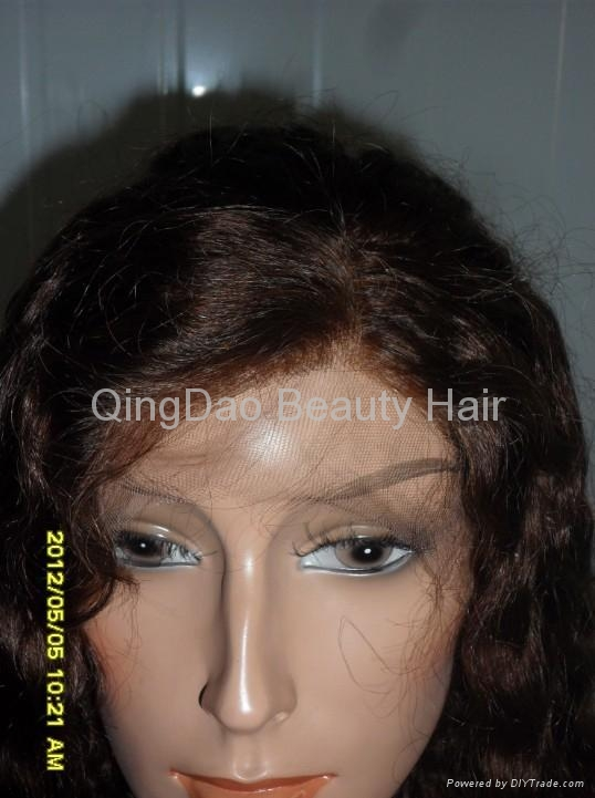 Wholesale Grade AAA 100% human remy hair full lace wig 4