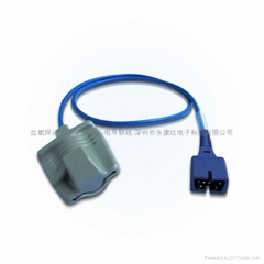 Compatible with DS-100A  Aduit silicone  soft  SPO2 sensor