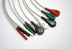 Compatible with DIN Style 10-Lead Holter wires