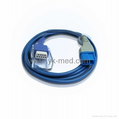 Compatible with SPACELABS SPO2 ADAPTER CABLE