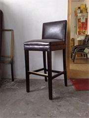 高腳低背軟座木椅