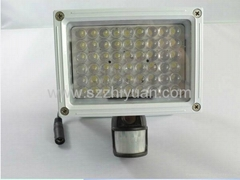 Motion Detection PIR camera & DVR with flood lights