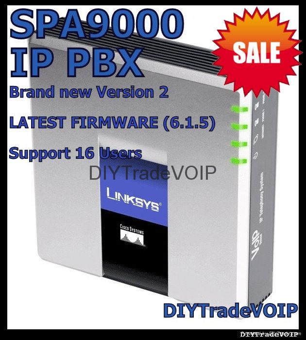 NEW Linksys UNLOCKED SPA9000 IP PBX 16 users ready v.2 ip phone gateway 1