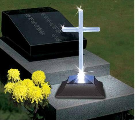Cross Solar Memorial Grave Light Sc01 8 China