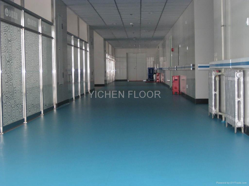 pvc  vinyl floor for hospital use - yc