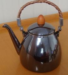 enamel cone teapot