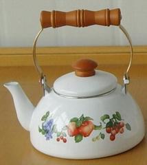 porcelain half-round kettle