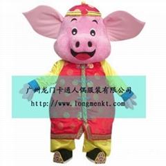 卡通猪人偶服装