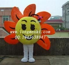 卡通人偶向日葵
