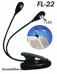 Dual clip music light