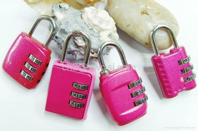 3-digit Resettable Combination  Lock  4