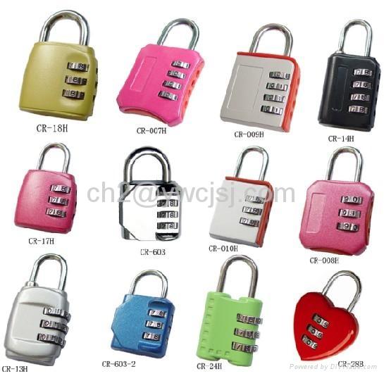 3-digit Resettable Combination  Lock  2