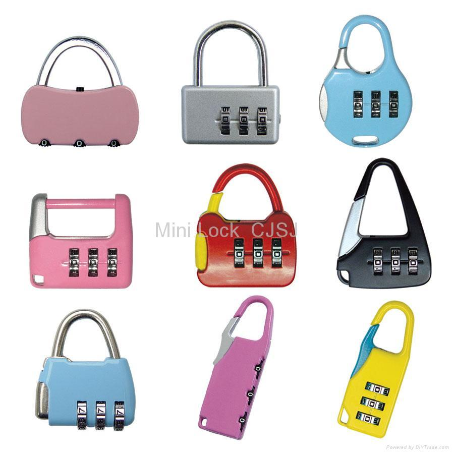 Mini Combination Lock For Luggage Bag