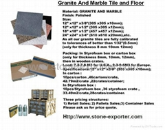 Stone Tiles&Granite Cut to Size