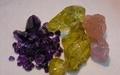 紫晶, 黄晶及粉晶