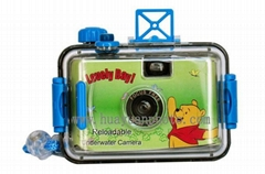 reusable underwater camera without flash