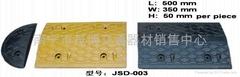广西南宁批发橡胶减速带减速坡公路减速垄减速板