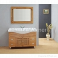 HW-P2686 Bathrooom Solid Wooden Cabinet with Ceramic Basin