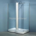 HW-1409 Simple Tempered Glass Shower Enclosure Room