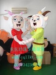 河南郑州卡通服装,卡通人偶服饰,演出服装道具,庆典服饰美羊羊