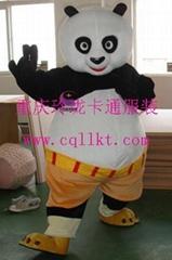 太原长春卡通服装舞台表演服装道具行走人偶功夫熊猫