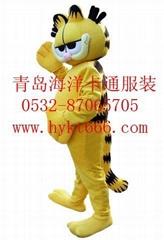 青岛海洋卡通服装加菲猫