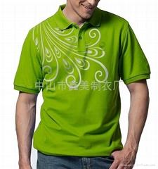 男式纯棉翻领T恤