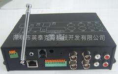 4路内置硬盘手机视频监控远程视频报警系统