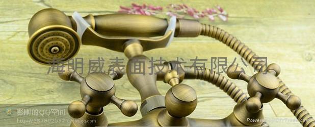 不鏽鋼鋁合金仿古銅顏色加工 3