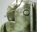鋁合金型材古銅顏色加工銅門顏色加工 3