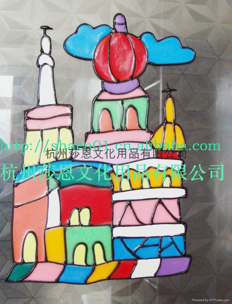 杭州莎恩文化用品有限公司产生,供应彩绘贴画, 胶画,烤画,彩泥画,花泥