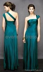 Noblest one shoulder evening gown/ evening dress