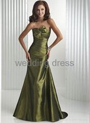 Light satin material, special desigh bust evening gown