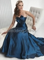 Light satin material, special desigh bust evening gown 3