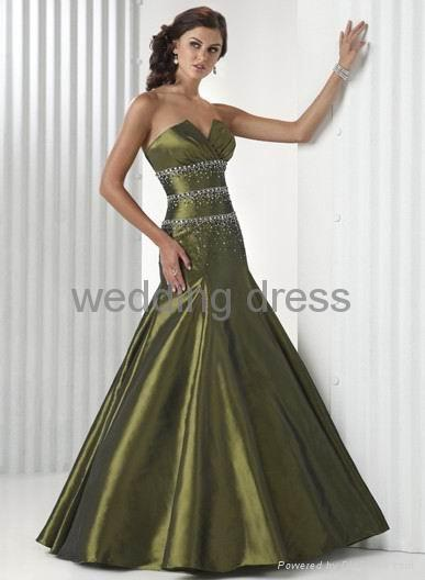 Light satin material, special desigh bust evening gown 4