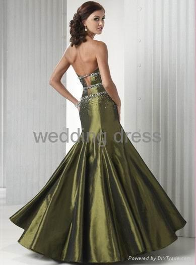 Light satin material, special desigh bust evening gown 5