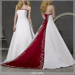 Dignified Bridal Wedding Dress With High-Quality Satin