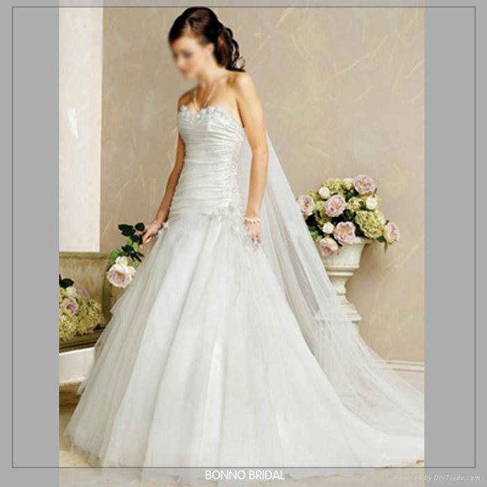 Dignified Bridal Wedding Dress With High-Quality Satin 4