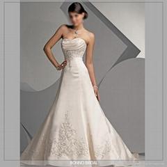 New Embroidered Bridal Wedding Dress