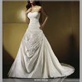 Simple style A-line wedding gown
